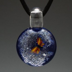 cremation pendant butterfly