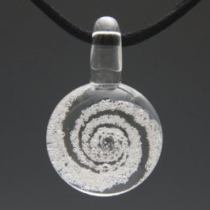 glass cremation pendant clear