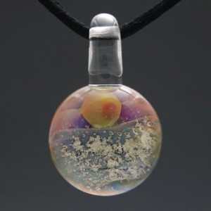 glass cremation pendant sunrise