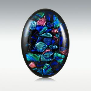 Dichroic Glass Memorial Worry Stone
